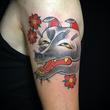 Kitsune mask tattoo