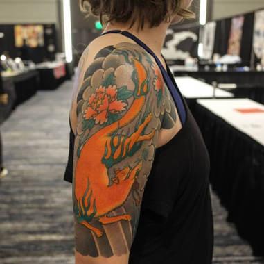 sleeve kistune tattoo