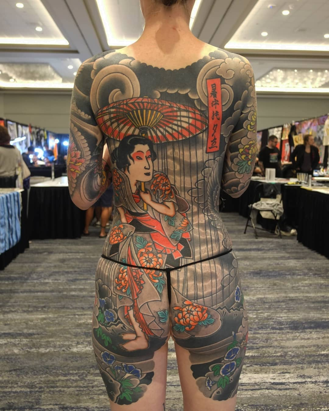 girl japanese back piece