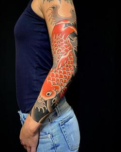koi fish sleeve