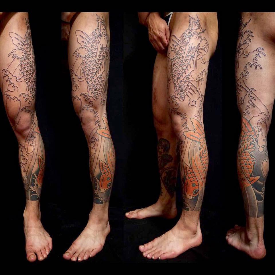 Koi Fish Leg Sleeve