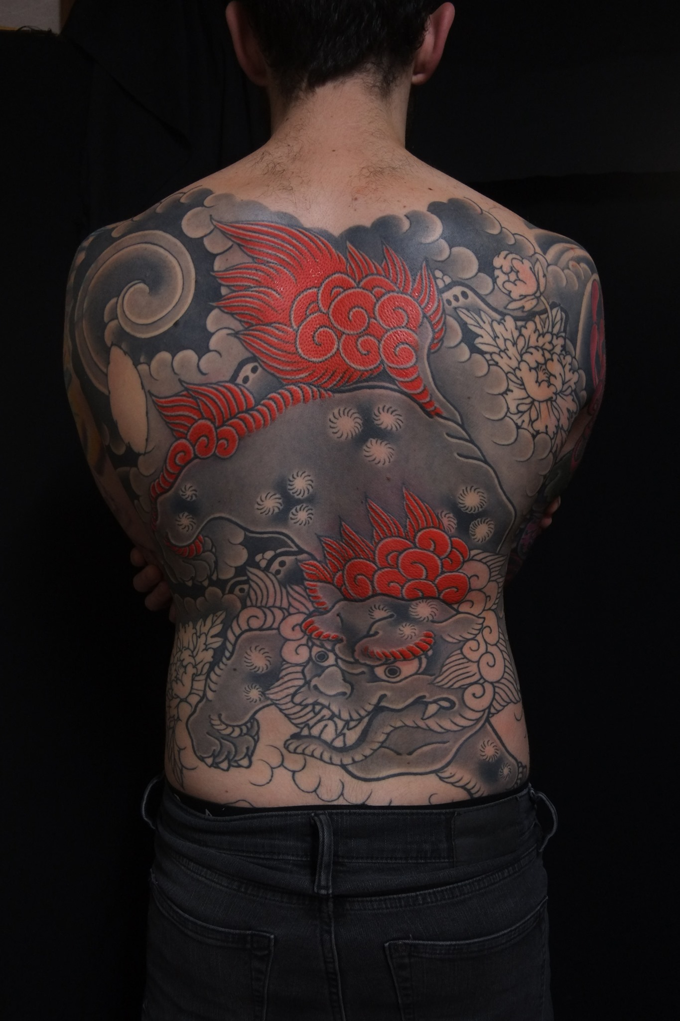 karajishi tattoo back piece