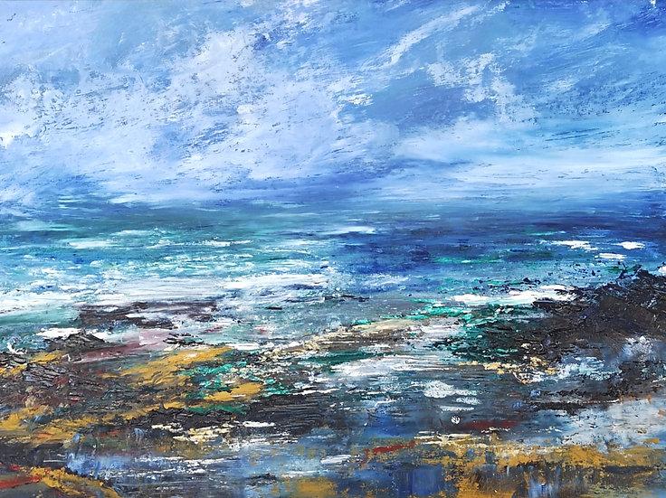 Abstract Sea, Cornwall Inspired