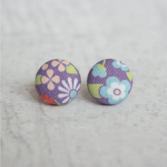 Rachel O fabric earrings
