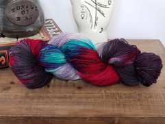 Hummingbird Moon hand dyed yarns