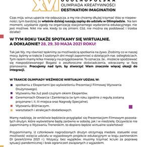 XVI Ogólnopolska Olimpiada Kreatywności
