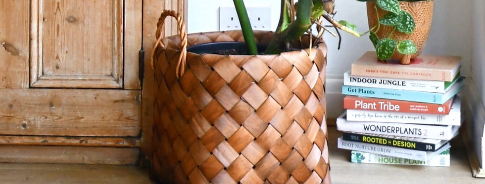 Natural Basket Planter - Brown