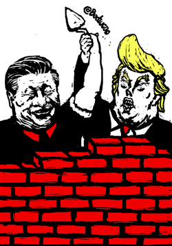 Wall Lovers for Mr Trump and Xi