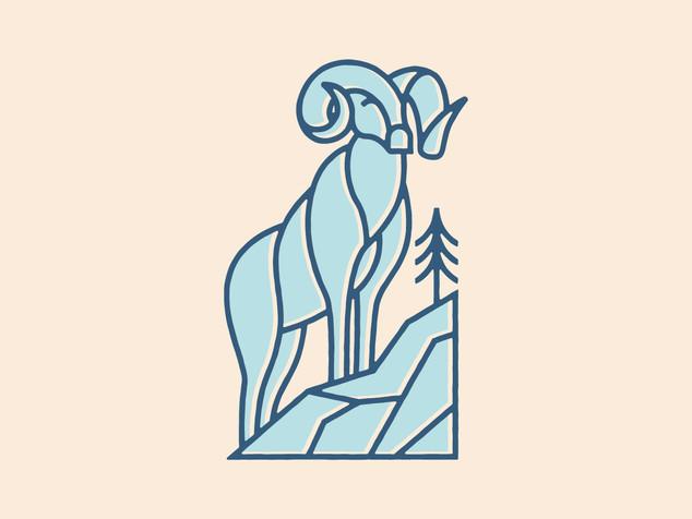 Lineart Bighorn Ram Icon
