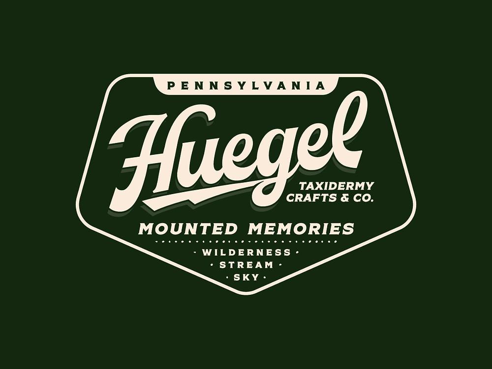 Huegel Taxidermy Badge Logo & Branding