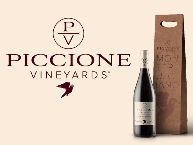 Piccione Vineyards Wine Label Packaging