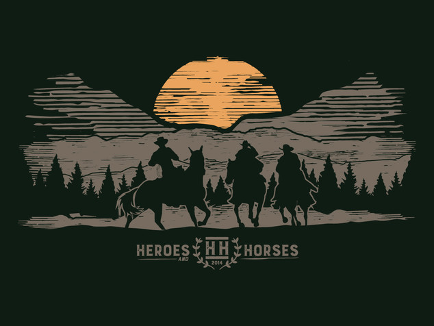 Heroes and Horses - 500 miles Illustration