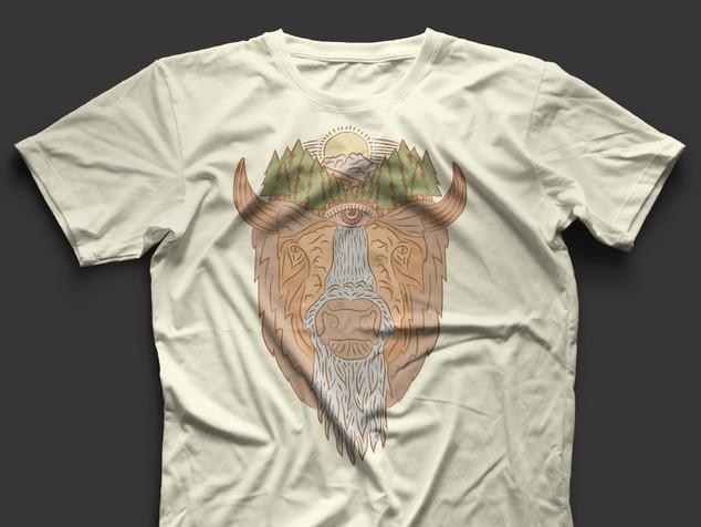 American Bison Shirt Graphic