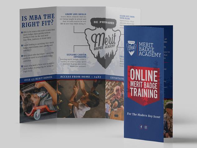 Merit Badge Academy Brochure Design
