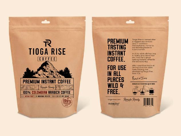 Tioga Rise - Coffee Packaging Design