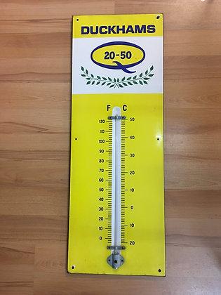 Duckhams-Thermometer-Emailschild