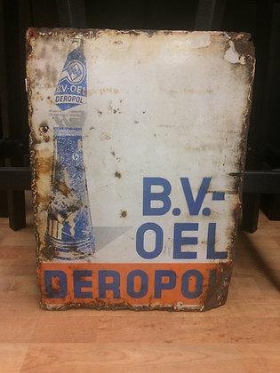 B.V.-Oel Deropol-Emailschild