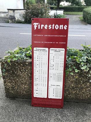 Firestone Pneutabelle-Emailschild