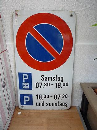 Parkplatz-Emailschild