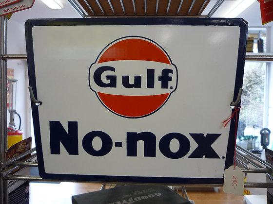 Gulf No-nox-Emailschild