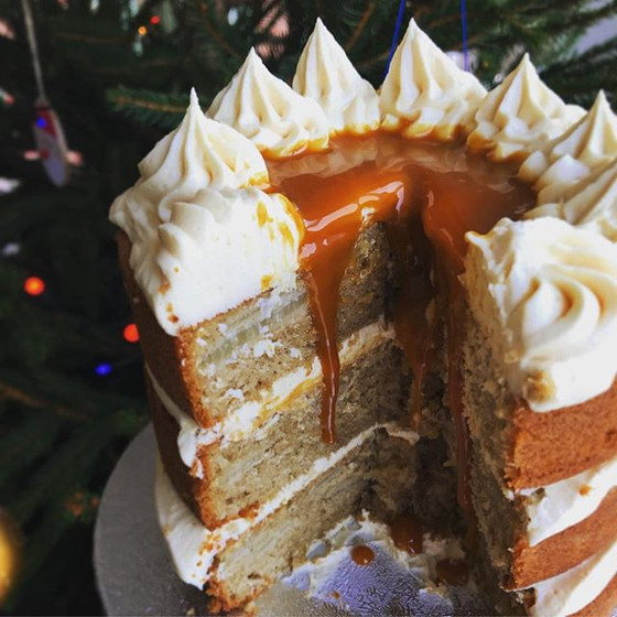 Recipe: Spiced Pear & Salted Caramel Cake