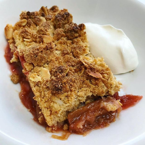 Recipe: Rhubarb & Blood Orange Crumble