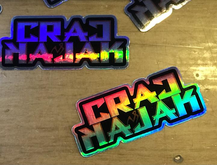 Holographic Crac Kajak sticker