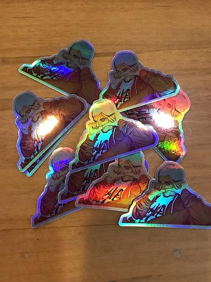 Holographic Jak sticker