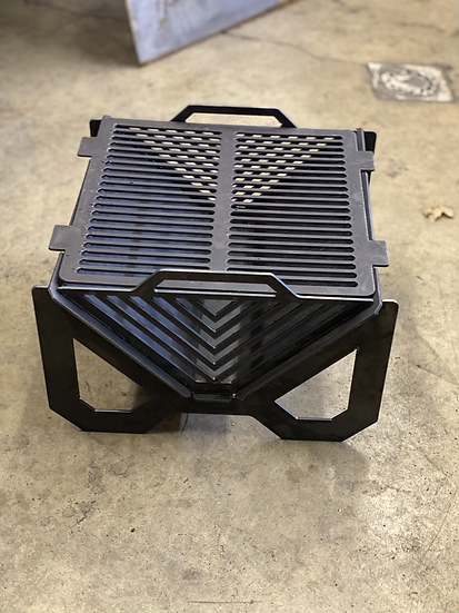 Collapsible fire pit grill