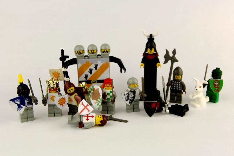 Set of LEGO Monty Python Grail Figs