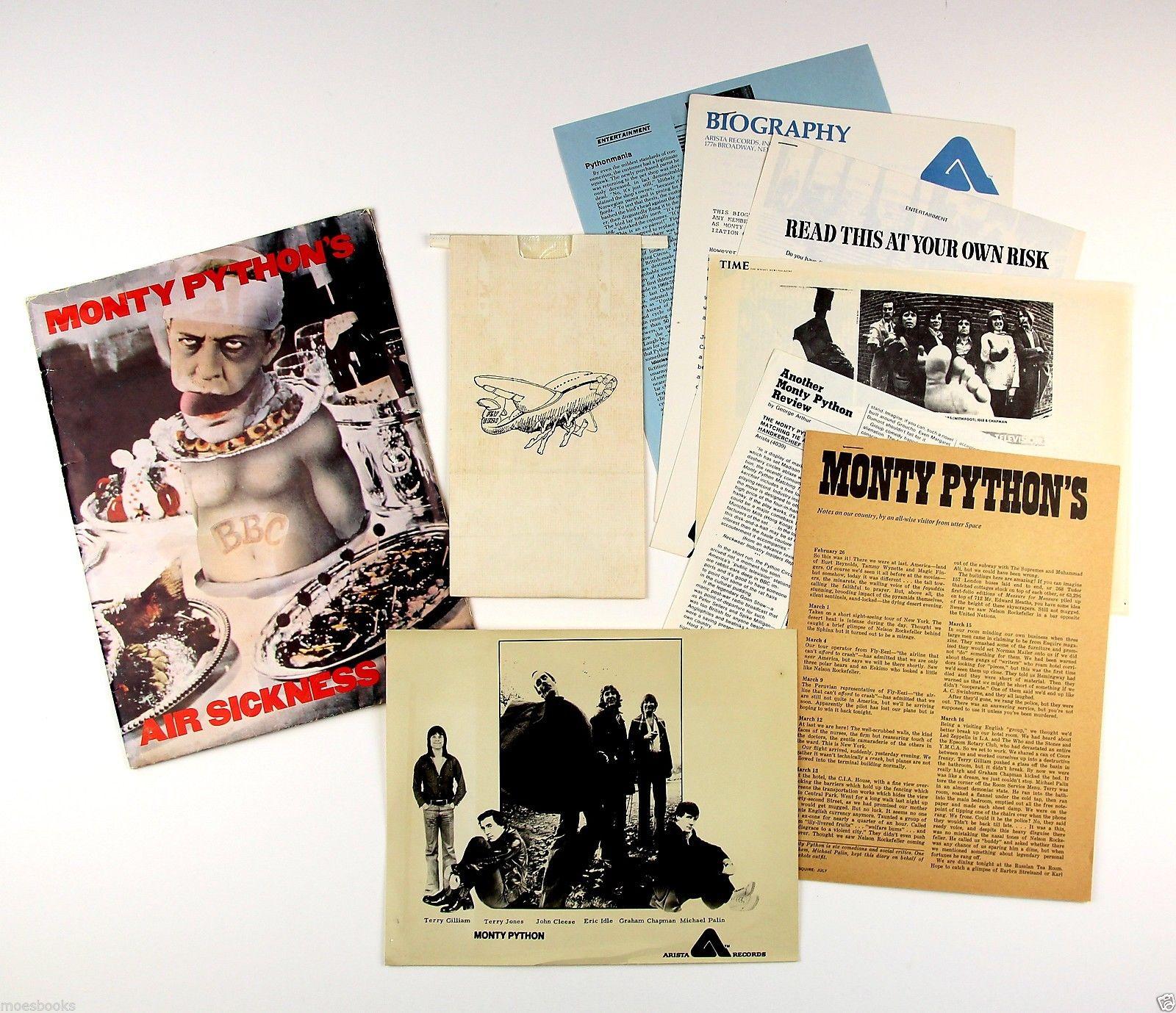 Monty Python Air Sickness Bag 1975