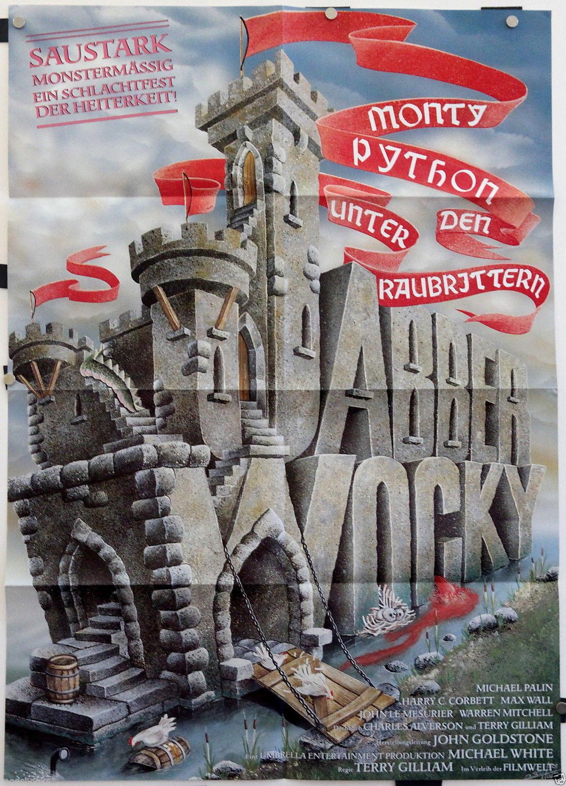 "1977 German Poster: ""Jabberwocky"""
