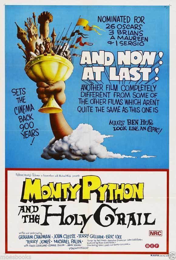 """1975 Australian Poster: """"Holy Grail"""""""