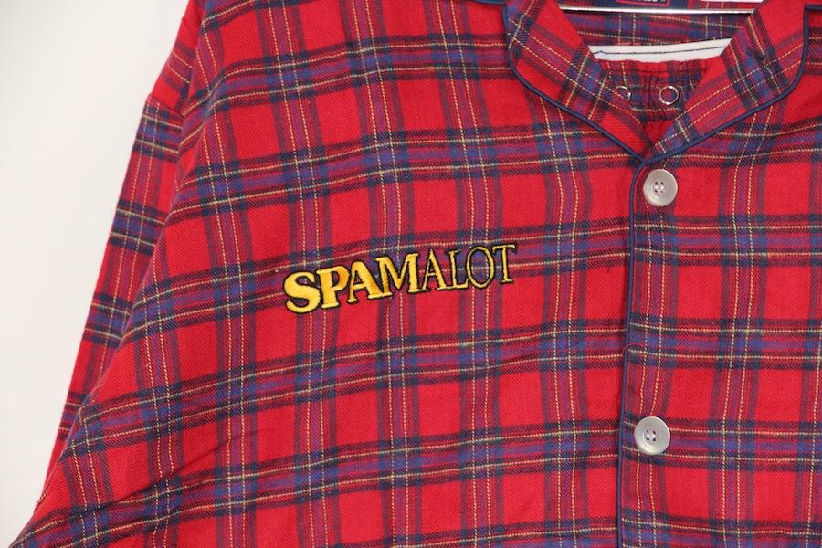 Spamalot Pajamas (red plaid)