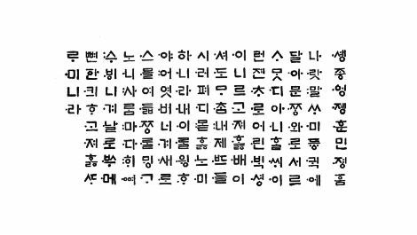 """Ecriture coréenne """"Hangeul"""" inventée en 1446"""