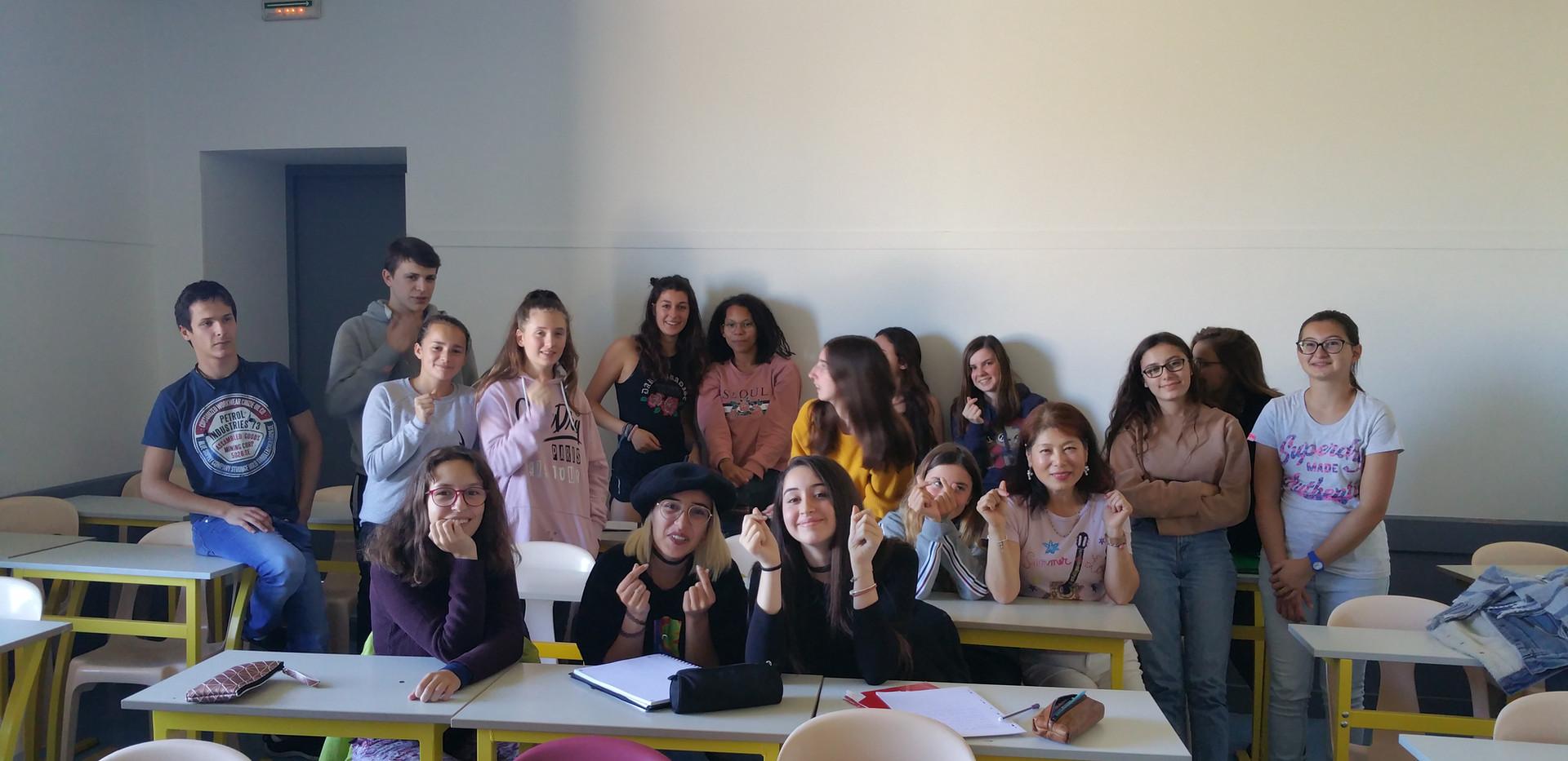 Les élèves du cours de coréen!