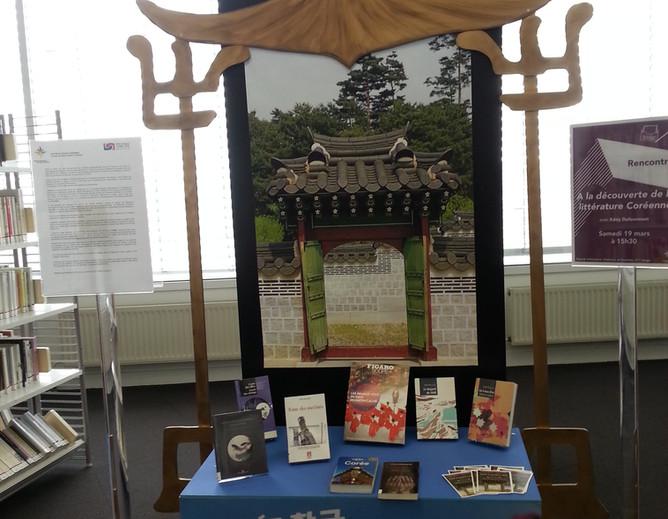 Petit autel de littérature sur la Corée à la bibliothèque de Mériadeck