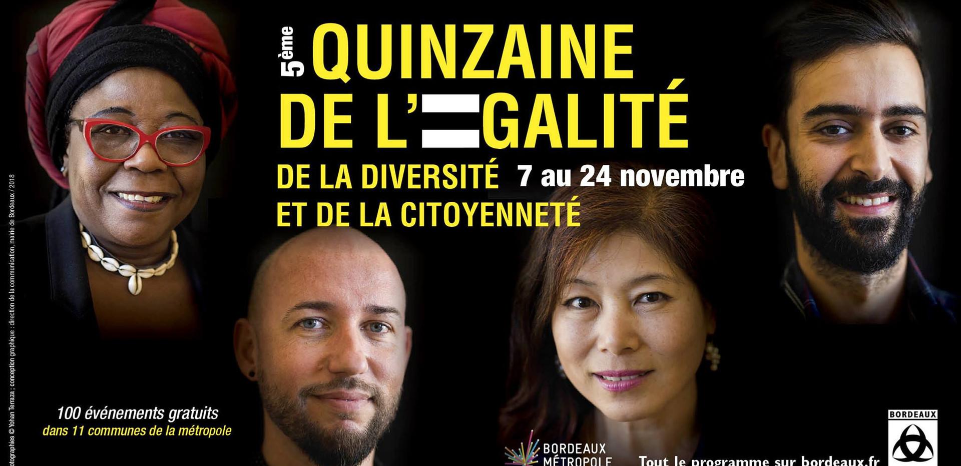 Affiche de la Quinzaine de l'égalité 2018