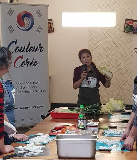 "Atelier de Kimchi au restaurant Haru Haru lors de ""Korea Now"""