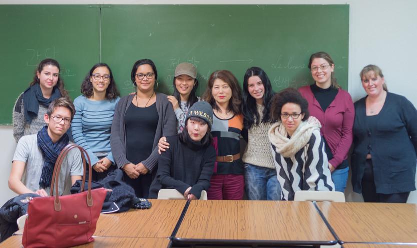 L'inévitable photo de classe!