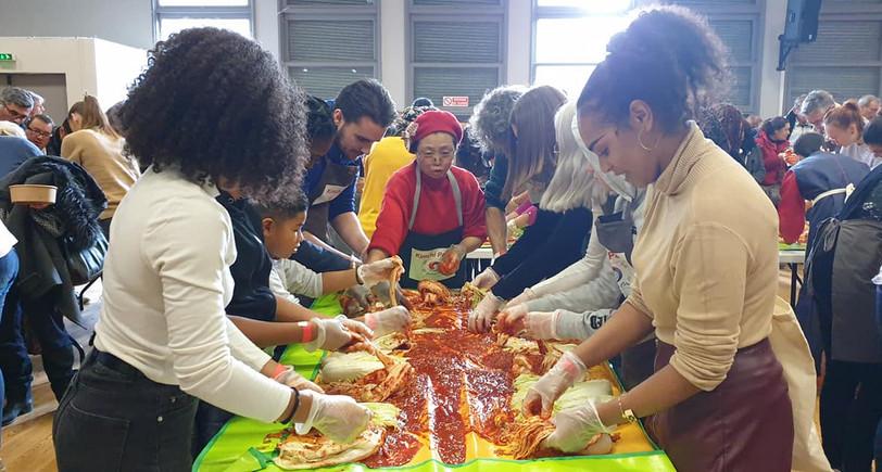 Confection de Kimchi lors de la Quinzaine de l'égalité 2019!