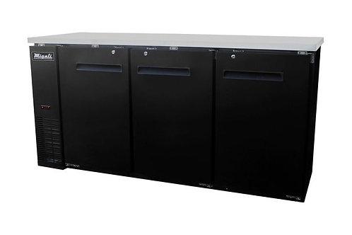 "Migali 72"" Wide Solid Door Refrigerator C-BB72-HC"