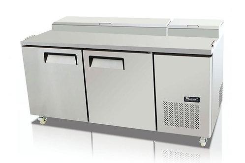 "Migali 67"" 2 Door Pizza Prep Refrigerator  C-PP67-HC"