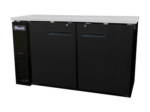 "Migali 60"" Wide Solid Door Refrigerator C-BB60-HC"