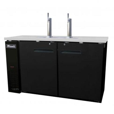 "Migali 72"" (3) Keg Direct Drawer Refrigerator C-DD72-3-HC"