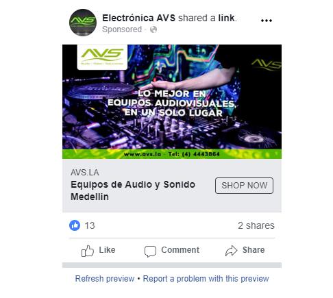 Electrónica AVS  | Facebook Ads