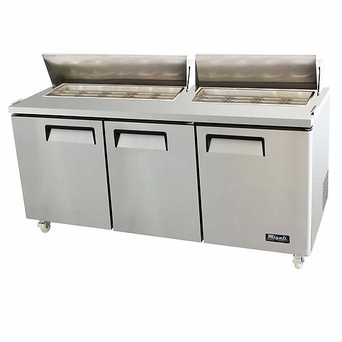 "Migali 72"" Wide Refrigerator, C-SP72-18-HC"