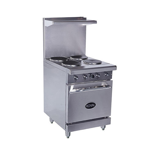"""Royal 24"""" Electric 4 Burner Range w/oven RRE-4"""