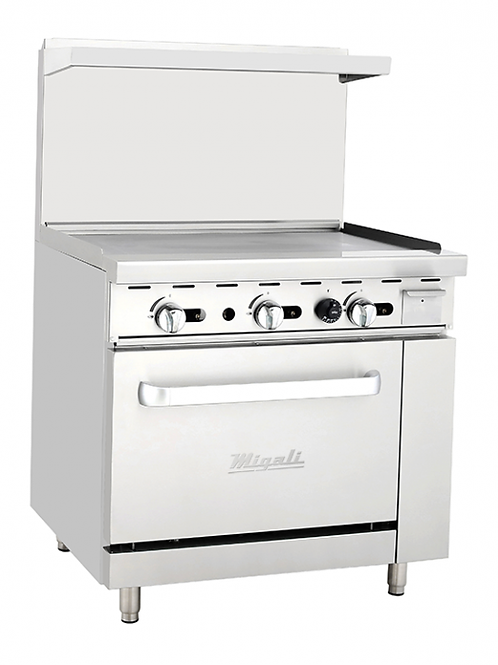 """Migali 36""""Wide Liquid Propane Oven with 36"""" Griddle C-RO-36G-LP"""