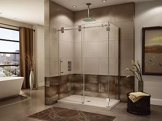 glass shower door installation in Miami FL